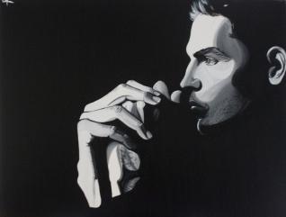Men#1, acrylique sur toile, disponible aussi avec Art Lover