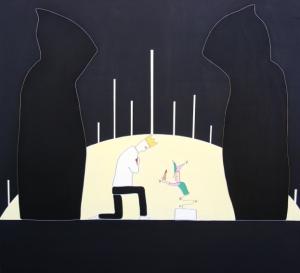 Fou, 100x110cm, également disponible sur Art Addict
