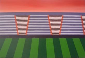Gradins, 130x90cm, acrylique sur toile, disponible aussi avec Art Lover