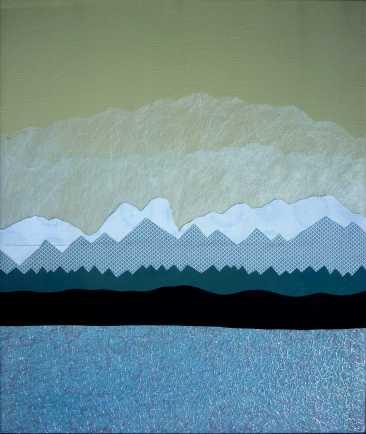 Lac d'opale, 64x54cm, techniques mixtes sur toile, disponible aussi avec Art Rookie