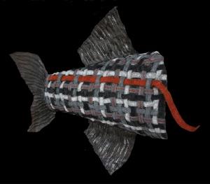 Mue de poisson, 80x30cm