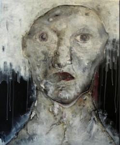 Portrait, 50x60cm, techniques mixtes sur toile