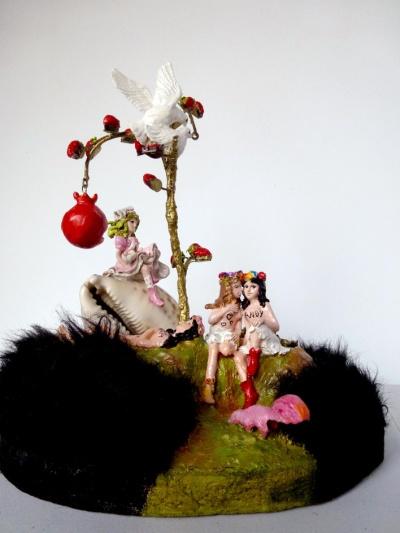 """Patricyan """"Venus et les initiées"""", techniques mixtes"""