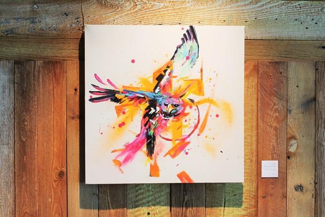 "Marlon ""When eagles dare"", acrylique sur toile, 40x40cm (©Get Arty)"